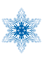 Раскраски - Узоры - Снежинки