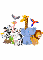 Раскраски - Рисованные животные