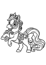 Раскраска - Королевские Питомцы - Пони Звездочка - питомец Рапунцель
