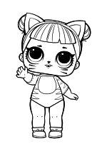 Раскраска - Куклы ЛОЛ - Леди Кошка