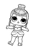 Раскраска - Куклы ЛОЛ - Индийская Принцесса
