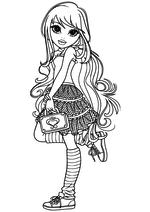 Раскраска Лекса с сумочкой