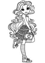 Раскраска Софина с сумочкой