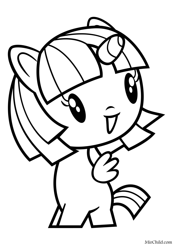 Раскраска - Мой маленький пони - Cutie Mark Crew - Милашка ...