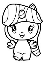 Раскраска - Мой маленький пони - Cutie Mark Crew - Милая пони Сумеречная Искорка