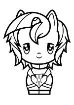 Раскраска - Мой маленький пони - Cutie Mark Crew - Милый пони Шайнинг Армор