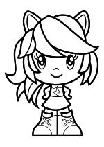 Раскраска - Мой маленький пони - Cutie Mark Crew - Милая Девушка Эквестрии Радуга Дэш