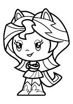 Раскраска - Мой маленький пони - Cutie Mark Crew - Милая Девушка Эквестрии Сансет Шиммер