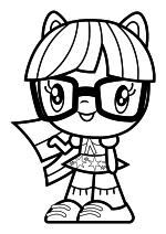 Раскраска - Мой маленький пони - Cutie Mark Crew - Милая Девушка Эквестрии Сумеречная Искорка
