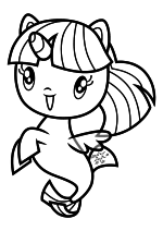 Раскраска - Мой маленький пони - Cutie Mark Crew - Морская поняшка Сумеречная Искорка