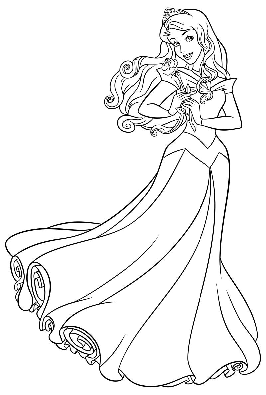 Раскраски для девочек принцессы распечатать 181
