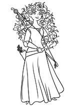 Раскраска - Принцессы Диснея - Отважная Мерида
