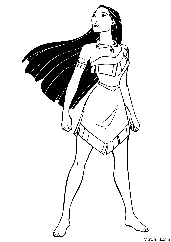Раскраска - Принцессы Диснея - Покахонтас | MirChild