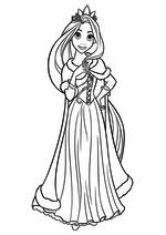 Раскраска - Принцессы Диснея - Рапунцель с короной