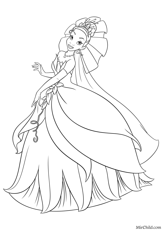 Раскраска принцессы печать