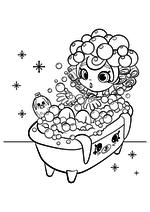 Раскраска - Шопкинс - Шоппис Баблейша и Кролики для ванной