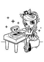Раскраска - Шопкинс - Шоппис Мелодин и Мишки для спальни