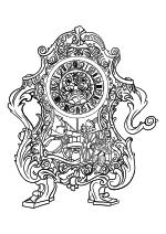 Раскраска - Красавица и чудовище - Когсворт