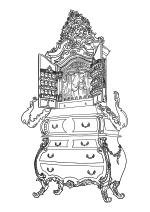 Раскраска - Красавица и чудовище - Мадам де Гардероб