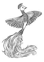 Раскраска - Красавица и чудовище - Плюметт