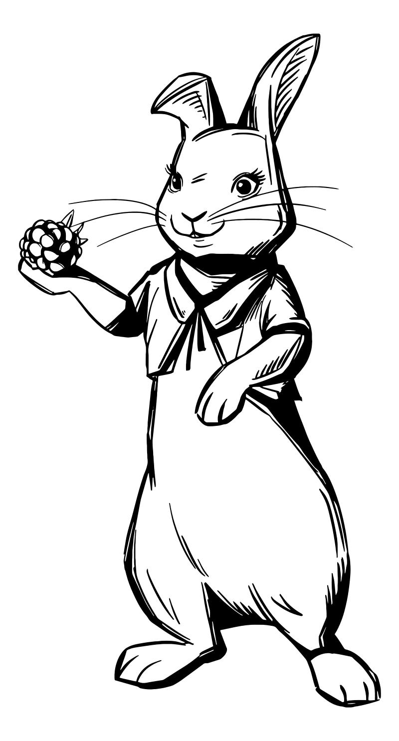 Раскраска - Кролик Питер - Флопси - средняя сестра Питера