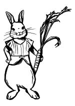 Раскраска - Кролик Питер - Крольчиха Мопси