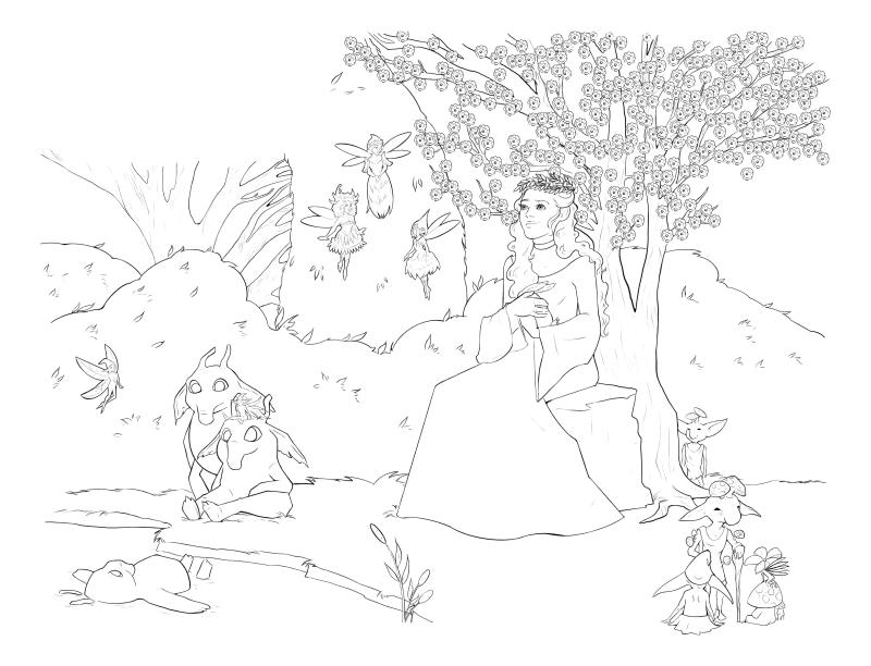 Раскраска - Малефисента: Владычица тьмы - Принцесса Аврора - королева Топких Болот