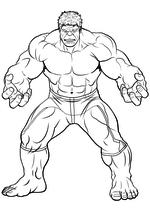 Раскраска - Мстители: Эра Альтрона - Брюс Бэннер / Халк