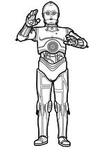 Раскраска - Звёздные войны: Пробуждение силы - Дроид C-3PO