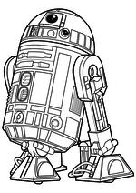 Раскраска - Звёздные войны: Пробуждение силы - Астродроид R2-D2