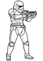 Раскраска - Звёздные войны: Пробуждение силы - Штурмовик готов стрелять