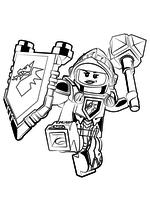 Раскраска - LEGO Нексо Найтс - Мэйси