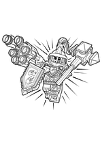 Раскраска - LEGO Нексо Найтс - LEGO Nexo Knights Абсолютная сила Мэйси