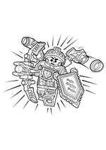 Раскраска - LEGO Нексо Найтс - LEGO Nexo Knights Абсолютная сила Аарона