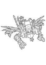 Раскраска - LEGO Ниндзяго. Мастера Кружитцу - Дракон Мастера Ву