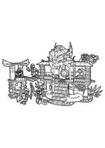 Раскраска - LEGO Ниндзяго. Мастера Кружитцу - Храм клана Анакондрай