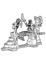Раскраска - LEGO Ниндзяго. Мастера Кружитцу - Сражение над лавой