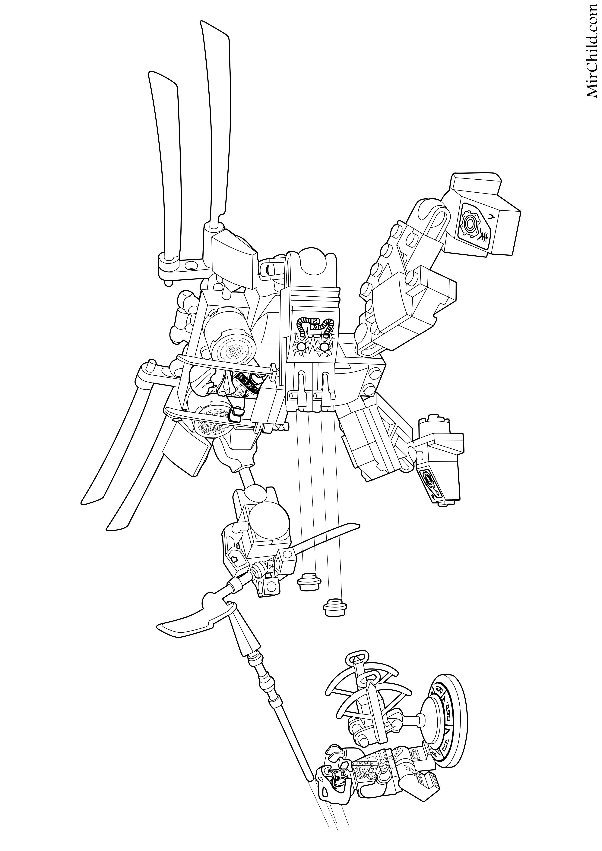 Раскраска - LEGO Ниндзяго. Мастера Кружитцу - Летающий ...
