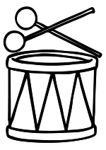 Раскраска Барабан