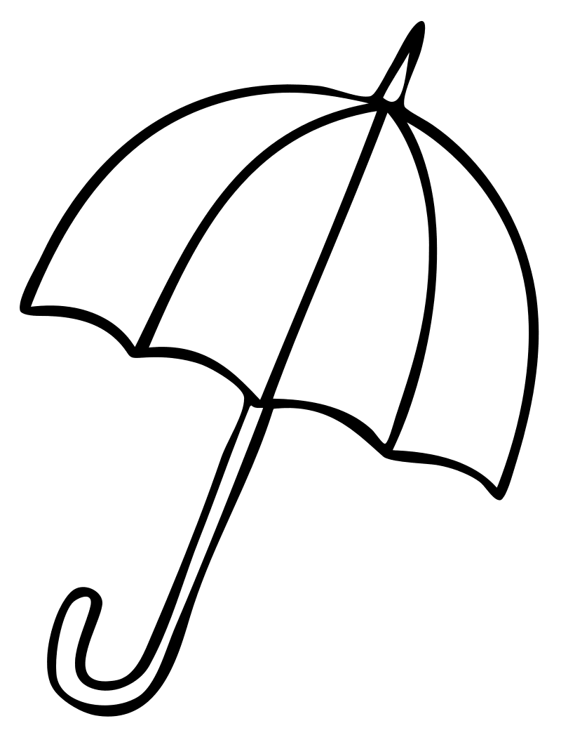 Раскраска - Малышам - Зонт | MirChild