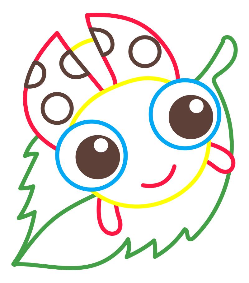 Раскраска - Малышам - Божья коровка