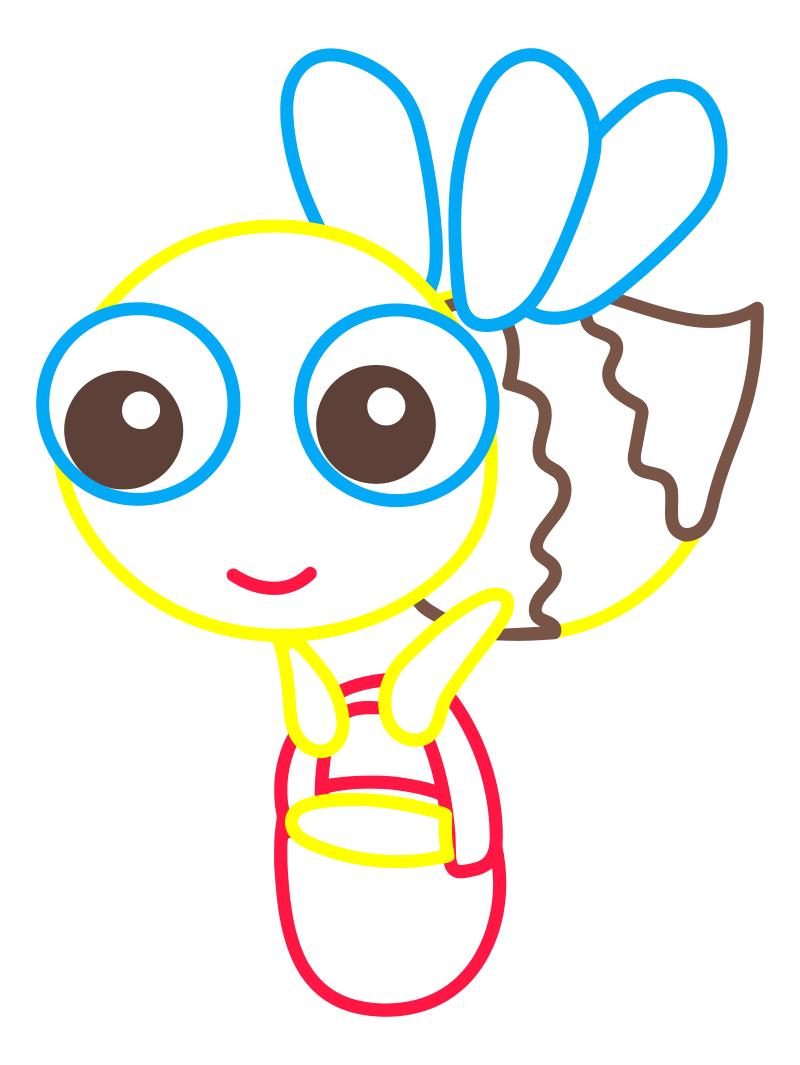 Раскраска - Малышам - Пчёлка
