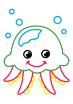 Раскраска - Малышам - Медуза