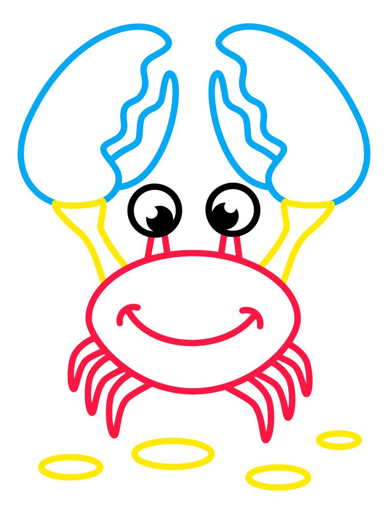 Раскраска - Малышам - Крабик
