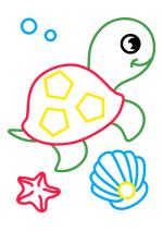 Раскраска - Малышам - Морской черепашонок