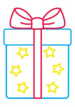 Раскраска - Малышам - Подарок