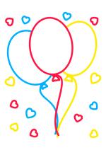 Раскраска - Малышам - Воздушные шарики