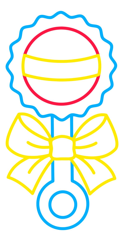 Раскраска - Малышам - Погремушка
