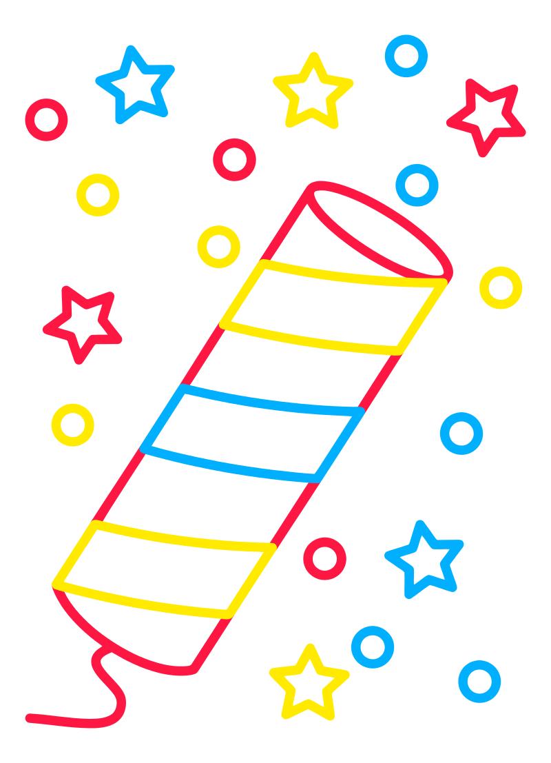 Раскраска - Малышам - Хлопушка
