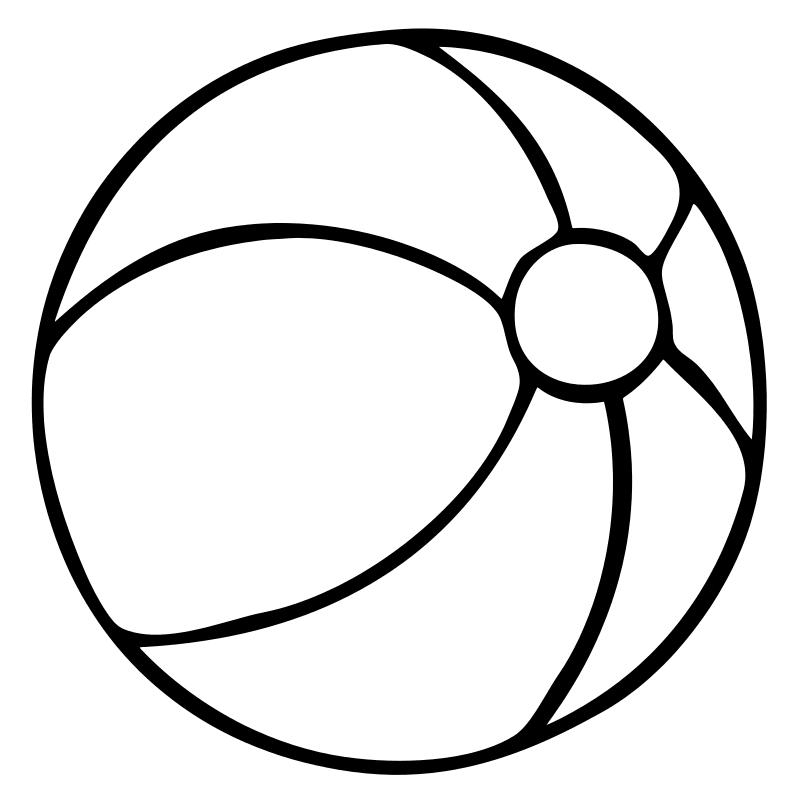 Раскраска Мячик